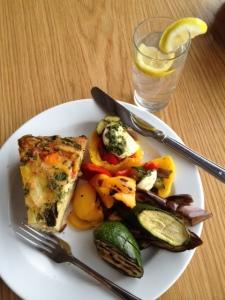 Vegetarian, gluten-free lunch