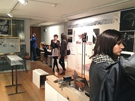 """The exhibit was held in an architects office, in its """"darc space gallery."""""""