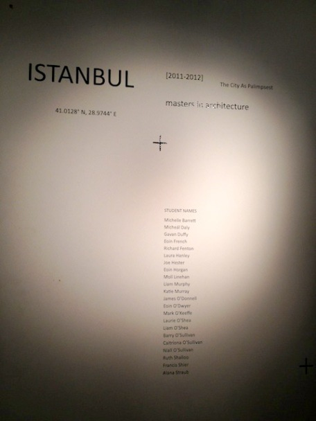 "The exhibit was titled ""Istanbul: The City as Palimpsest."""