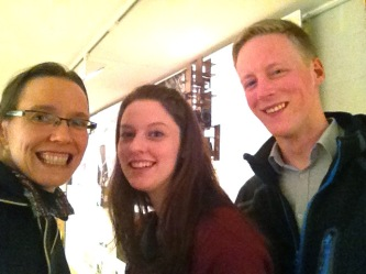 I had a ball talking with Helen (who works in TV and film production in Dublin) and David (an architecture student from the DIT).