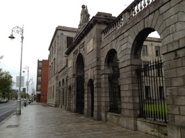 One corner of the Four Courts complex.