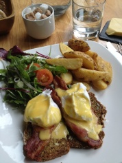 Eggs Benedict, Eden style. What more could a girl want?