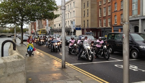 A few of the bikers riding today to help end breast cancer.
