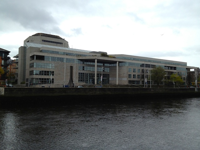 The Dublin City Council building stands in stark contrast to the delightful city around it. There is a nice atrium inside, however, and so working there might be as viewing the place from outside.