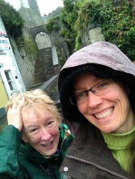 We got caught in the rain... surprise!