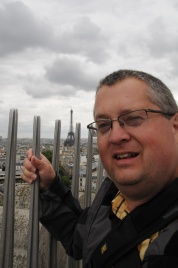 Dave at the Eiffel Tower.