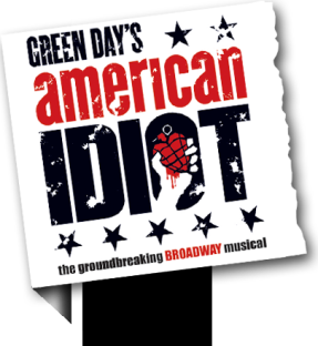 "Logo from the musical ""An American Idiot."""