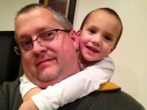"""Dave and """"baby"""" David, November 2012."""