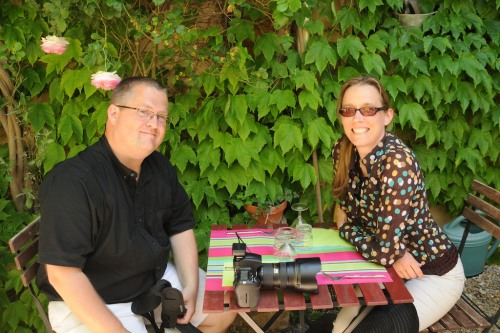 Dave and Shannon on Lourmarin, France.