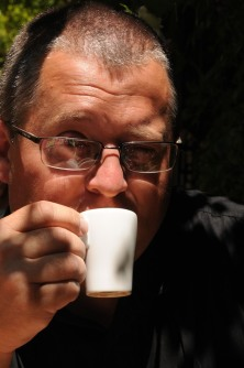 Dave with his French espresso.