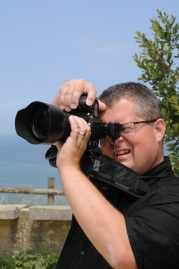 Dave documenting WWII sites in Normandy, France.