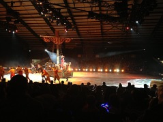 Captain Hook got quite bossy in Disney on Ice.