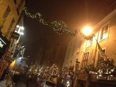 Christmas decorations in Galway. And yes, they celebrate *Christmas* here.