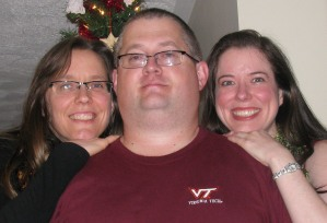 Shannon, Dave and Heather, Christmas 2011.
