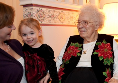 Amanda and Lilli with Lillian Massie a couple years ago.