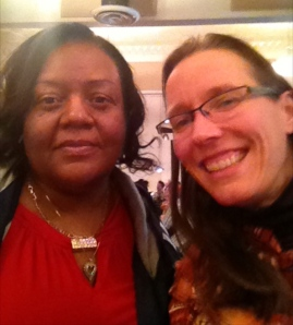 The woman on whom we all depend, Ms. Deborah Bowers. Notice that she has a halo!