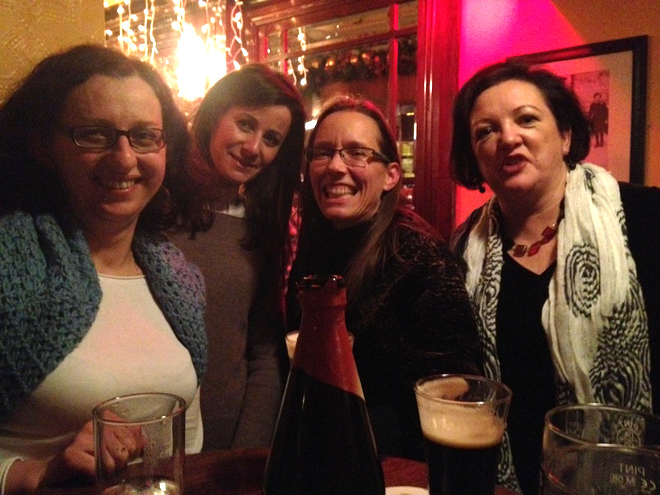 Ela, Ann Marie, Shannon, and Joan at Jack Nealons pub.