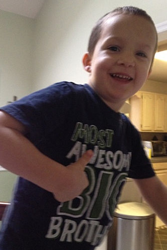 """David is the """"most awesome big brother!"""""""