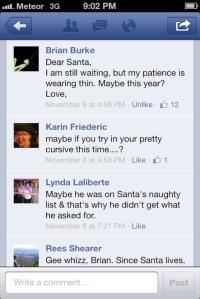 Brian Burke's 2012 post to Santa.