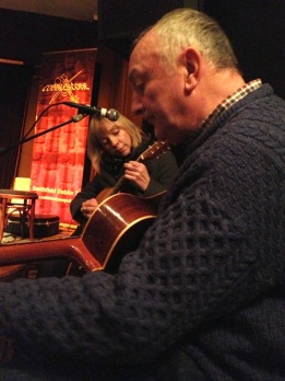 Susan and Pat sharing a tune.