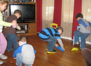 The older kids can handle organized games.