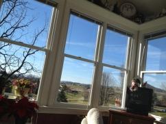 Enjoying the Layman sunroom (that I helped design many moons ago).