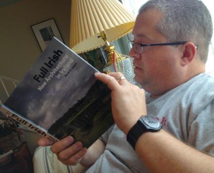 Dave got a book about modern Irish architecture.