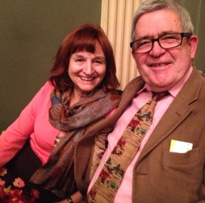 My theater mates, Diane and Lawrence Hanlon.