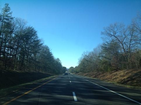 Arriving in the foothills of Virginia.