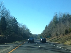 I always love the first glimpse of Virginia's mountains on Interstate 64.