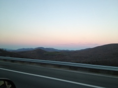 Sunset off I64.