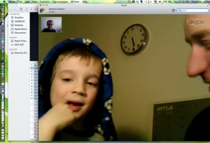 Gavin's curious five year old...