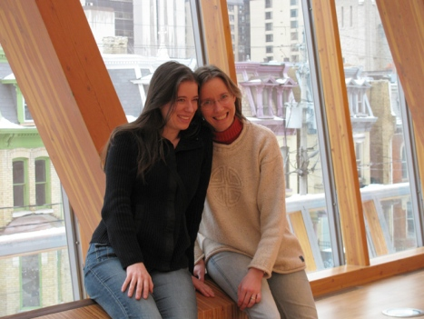 Heather and Shannon in Toronto art museum.
