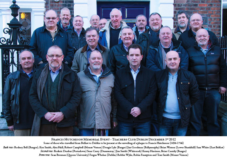 The group from the north of Ireland who came for the unveiling. (Photo provided by Fergus Whelan.)