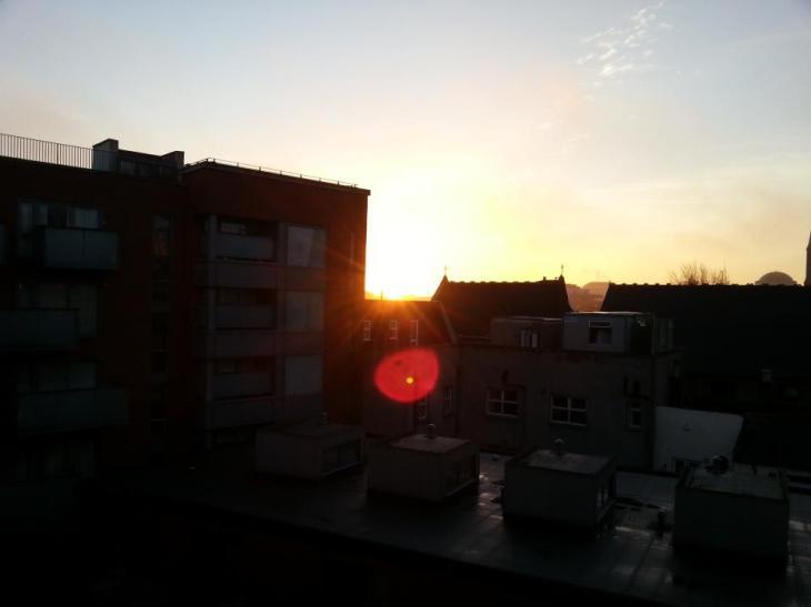 Sunrise at my Dublin abode, December 18, 2012.