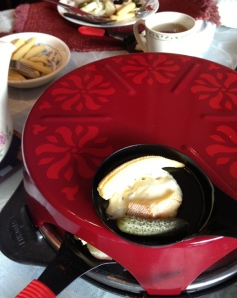 The raclette grill Dave gave me many Christmases ago, to remember our friends in Switzerland by.
