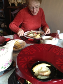 Raclette with Mom.