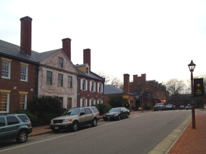 Prince George's Street in Williamsburg, Virginia.