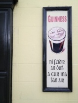 Sign at Mary Daly's pub.