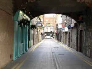 Pedestrian shopping street.