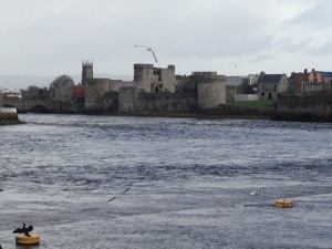 The castle on King's Island on the River Shannon.