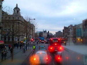 The weather was chilly this morning as I boarded the bus at O'Connell Street to go interview potential Fulbrighters -- but it was much warmer than in much of the USA!