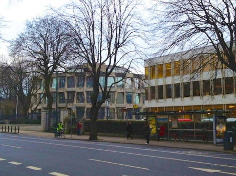 The American Embassy is located on the main street through Ballsbridge.