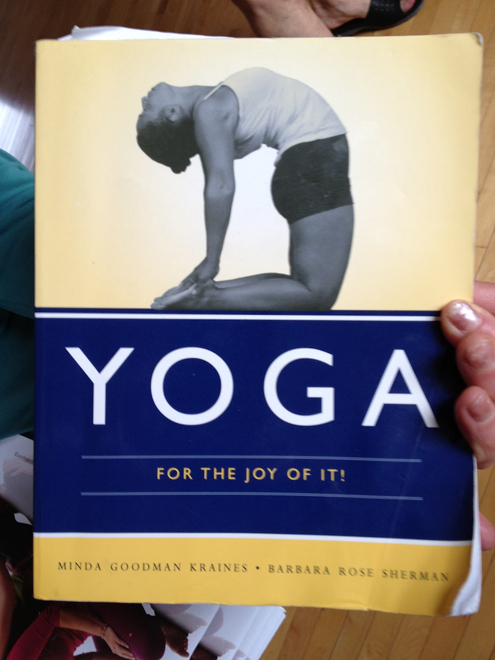 Here's a book she recommends for people starting yoga.