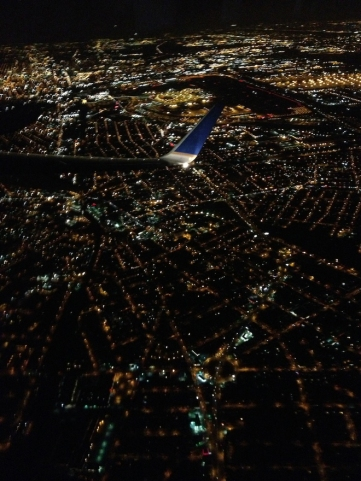 I love studying city and land patterns from the sky.