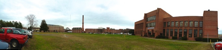 Bemis lawn with Bemis Laboratories to the right, home of the Hampton University Department of Architecture.