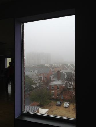 The view from the studio is lovely -- even on a foggy day.