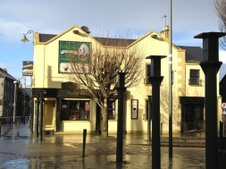 Kate Daly's Pub proved to be a beacon of shelter in the storm. (Here's a photo of it between yesterday's hail storms.)