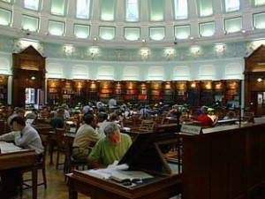 Main Reading Room of the National Archives in Dublin (Image from blog by Librarinista.)http://librarianista.tumblr.com/post/3918081339/reading-room-national-library-of-ireland-dublin