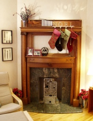 ...but we hung our stockings by the new mantle with care...
